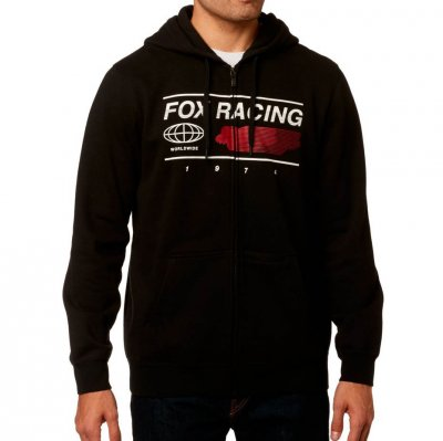 Mikina Fox Global Zip Fleece black