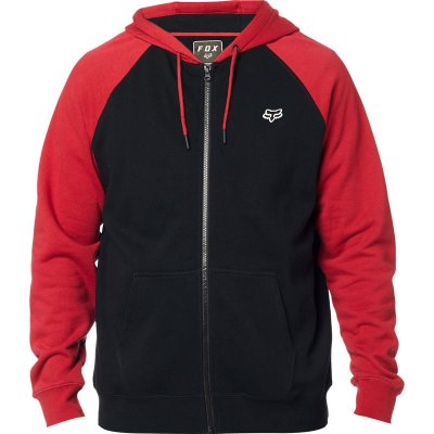 Mikina Fox Legacy zip fleece black/red