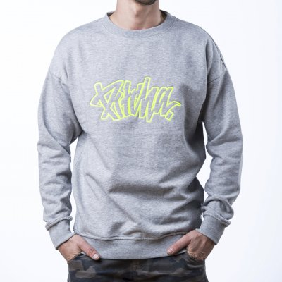 mikina Pitcha EASY Crewneck grey/fluo