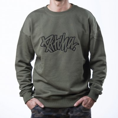 mikina Pitcha EASY Crewneck olive/black