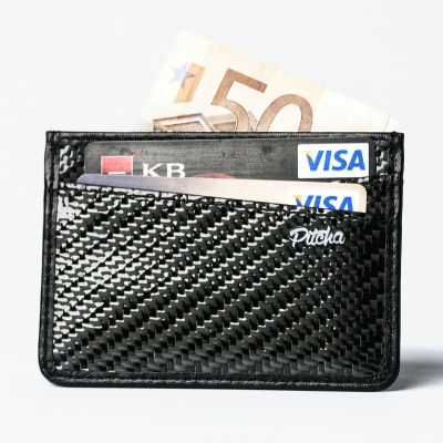 Peněženka Pitcha Carbon card wallet