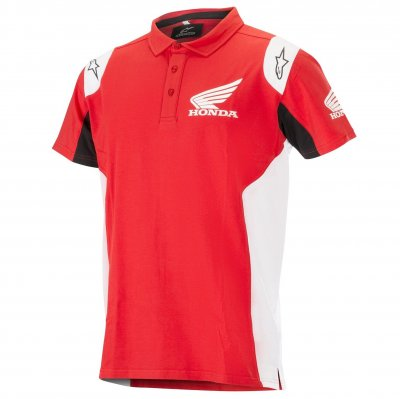 Polo triko Alpinestars Honda red