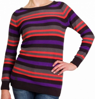 Svetr WooX Stripy Ladies Jumper Black