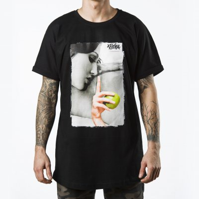triko Pitcha LONGER tee black/apple