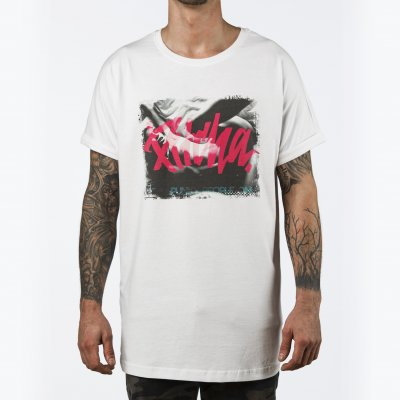 triko Pitcha LONGER tee white/pitcha