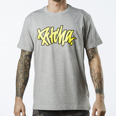 triko Pitcha OUTLINER tee grey/yellow