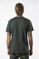 triko Pitcha OUTLINER tee bottlegreen/silver