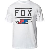 Triko Fox Super Ss Tee white/black/red